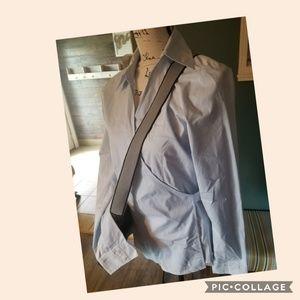 Loft size Med wrap blouse